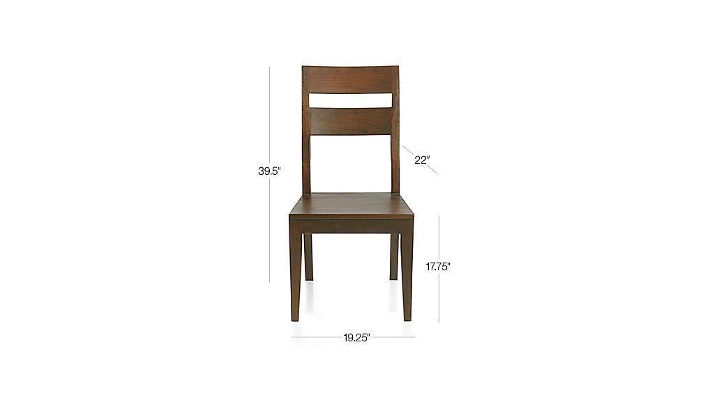 Basque Honey Side Chair Dimensions