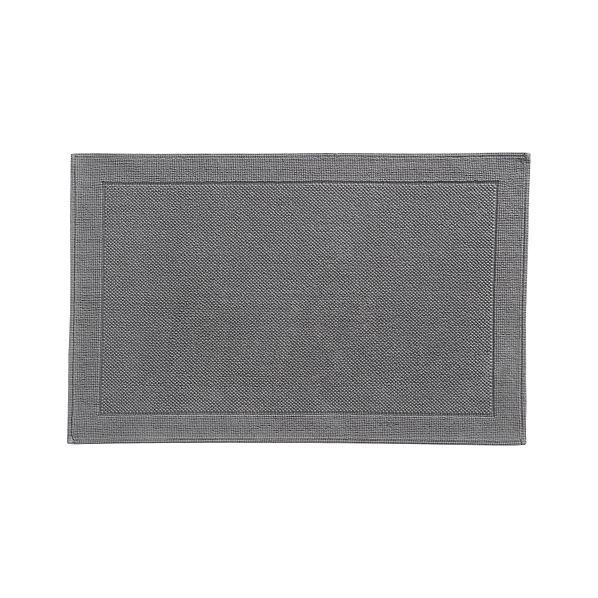 Large Grey Bathroom Rug: Westport Grey Bath Rug