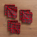 Batik Floral Cocktail Napkins Set of Six