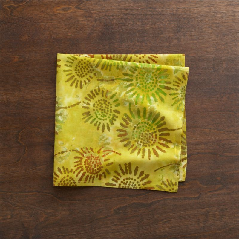 Everyone's favorite fabric craft gets a masterful turn in artisan-created tie-dyed cotton. Tight ties of string and careful application of saturated dyes create batik-like botanicals on a rainbow of swirling watercolor brights. Each pattern will be unique.<br /><br /><NEWTAG/><ul><li>100% cotton</li><li>Machine wash; line dry</li><li>Made in India</li></ul>