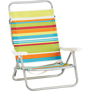 Beach Stripe Three-Position Sand Chair