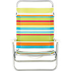 "Beach Stripe Sand Chair. 25.6""Wx32""Dx43.3""H (8.5""H seat)."