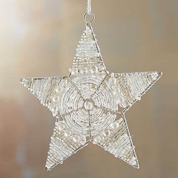 Round Center Beaded Star Ornament