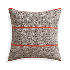 Beasley Orange Pillow with Feather Insert.