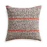 "Beasley Orange 20"" Pillow with Feather Insert"
