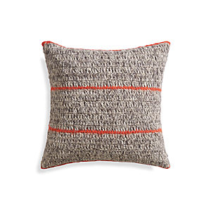 "Beasley Orange 20"" Pillow"