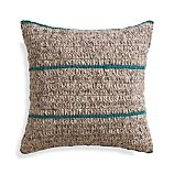 "Beasley 20"" Peacock Pillow with Feather Insert"