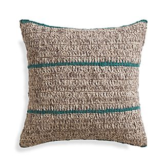 "Beasley 20"" Peacock Pillow with Down-Alternative Insert"