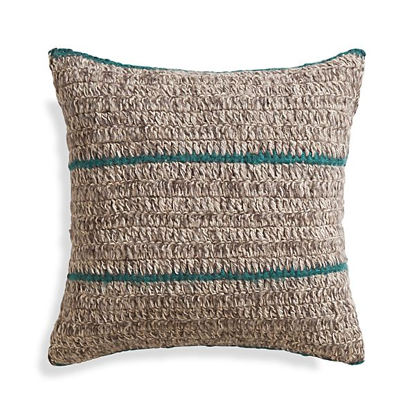 """Beasley 20"""" Peacock Pillow with Feather Insert"""