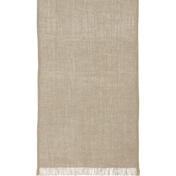 "Beckett Natural 90"" Table Runner"