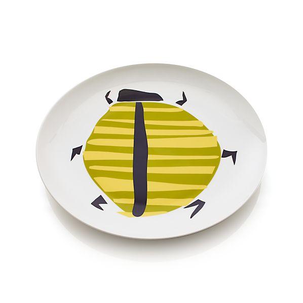 Green Beetle Plate