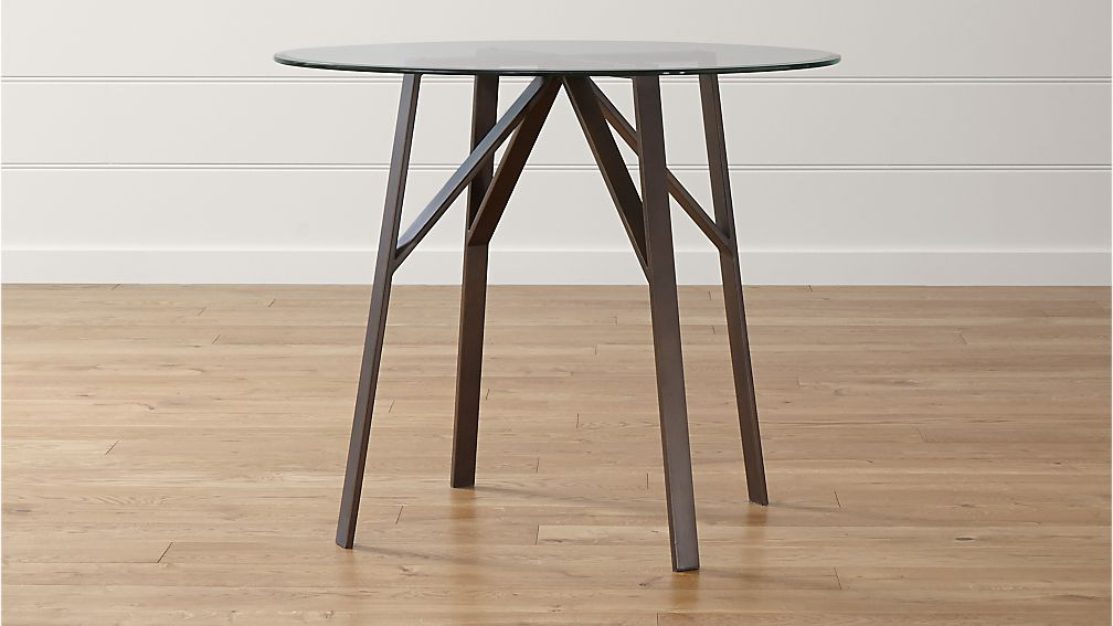 Round High Dining Table With 42 Glass Top In Belden Dining Tables