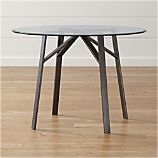 "Belden Table with 42"" Glass Top"