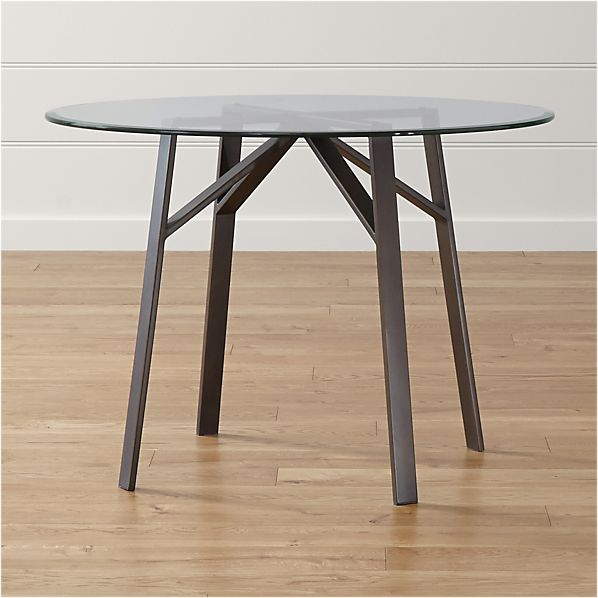 """Belden Table with 42"""" Glass Top"""