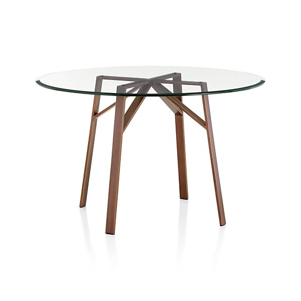 Belden Dining Tables With Glass Top Crate And Barrel
