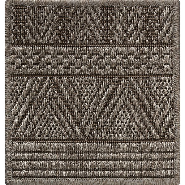 "Belize Graphite 12"" sq. Rug Swatch"