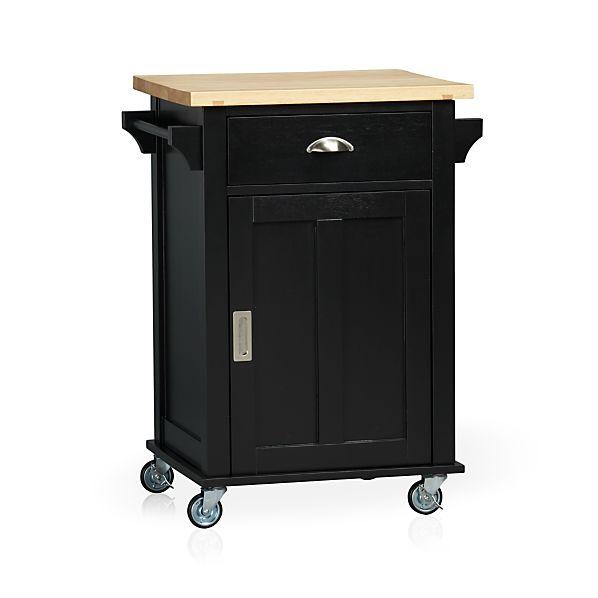 Belmont Black Kitchen Cart