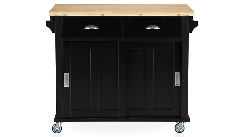 Crate And Barrel Belmont Table Belmont Black Kitchen Island in Kitchen Islands & Carts | Crate and ...