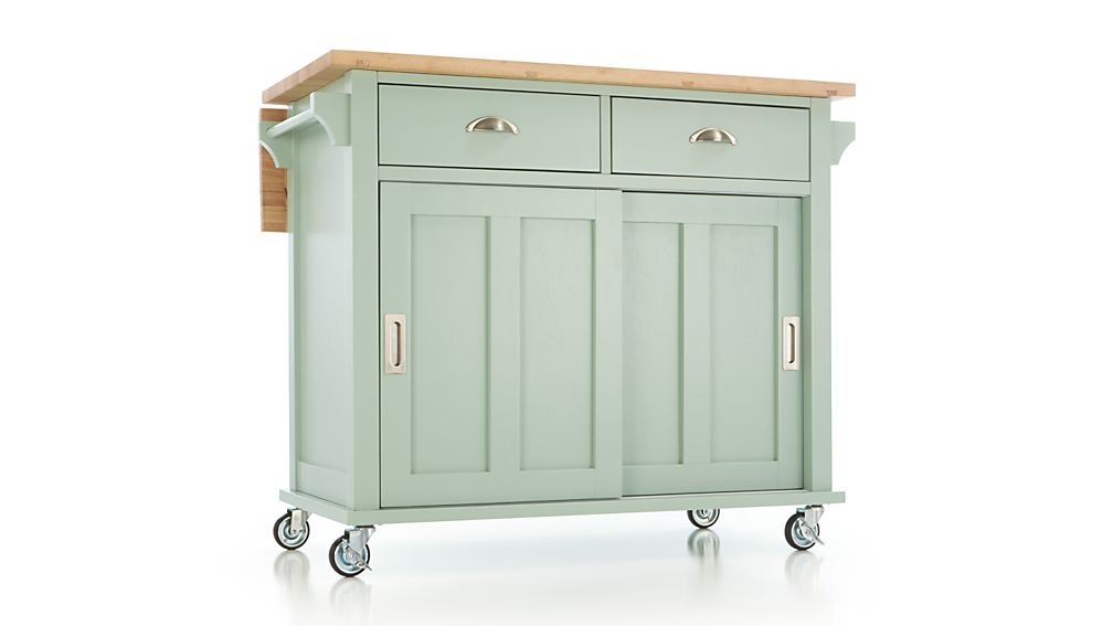Belmont Mint Kitchen Island In Islands amp Carts