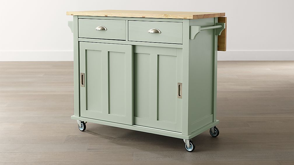 Belmont Mint Kitchen Island in Kitchen Islands & Carts  Crate and