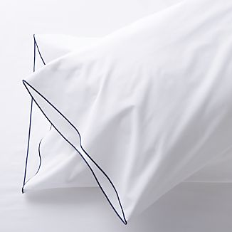 Set of 2 Belo Blue Standard Pillowcases
