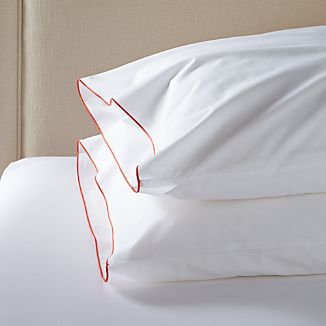 Set of 2 Belo Coral Standard Pillowcases