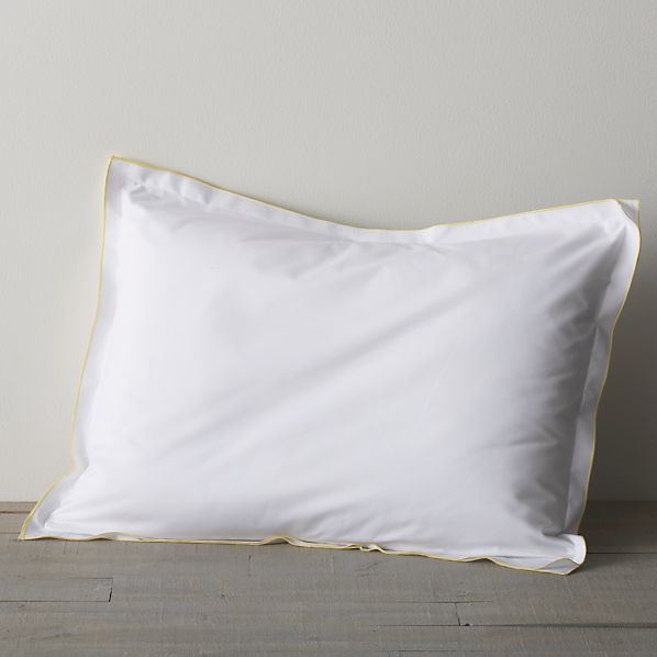 Belo Yellow Standard Double Flange Pillow Sham