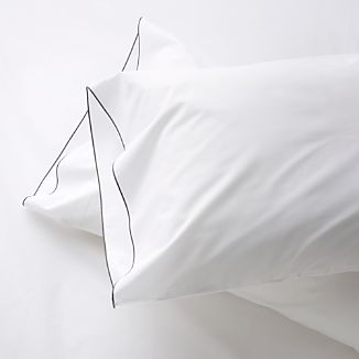 Set of 2 Belo Grey Standard Pillowcases