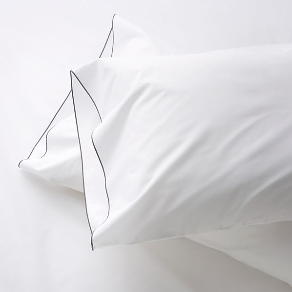 Set of 2 Belo Grey King Pillowcases