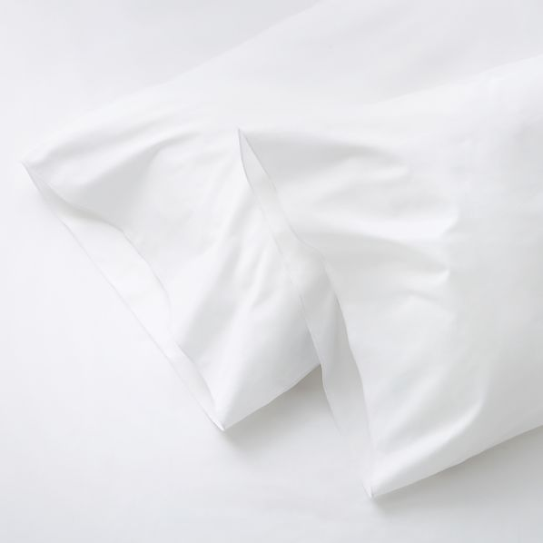 Set of Two Belo White King Pillowcases