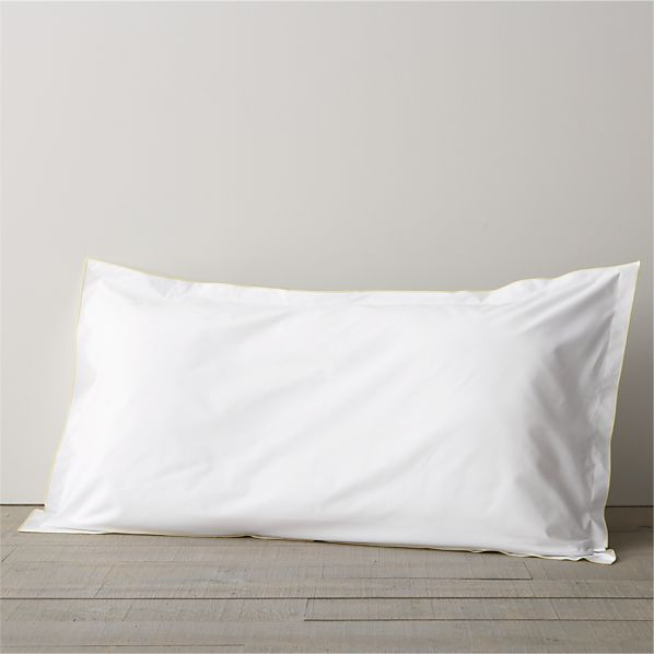 Belo Yellow King Flange Pillow Sham
