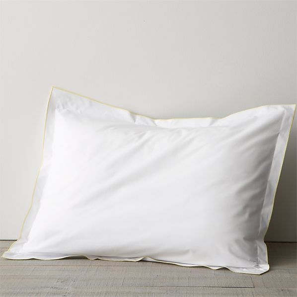 Belo Yellow Standard Flange Pillow Sham