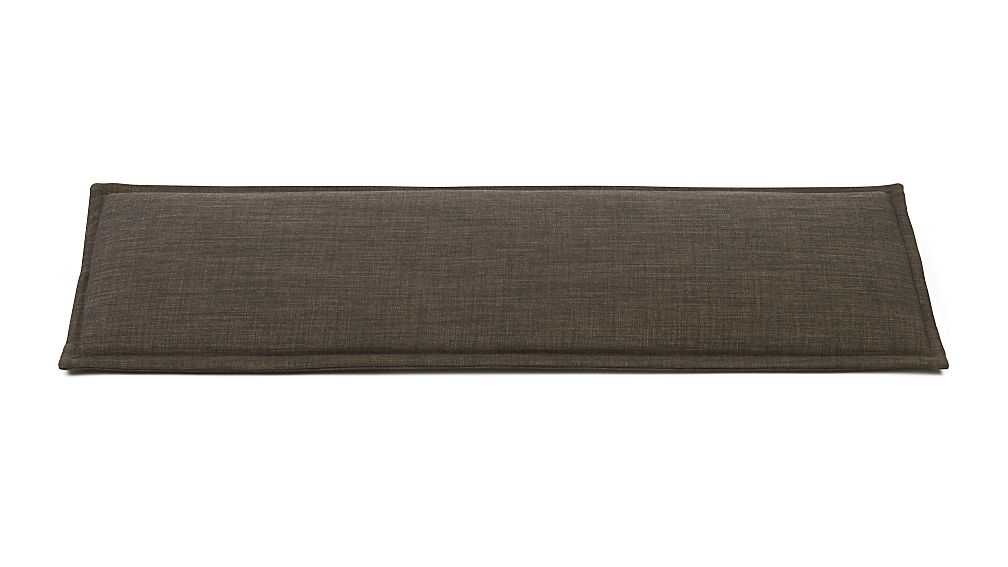 Boardwalk Andes Dark Granite Bench Cushion In Entryway Benches Crate And Barrel