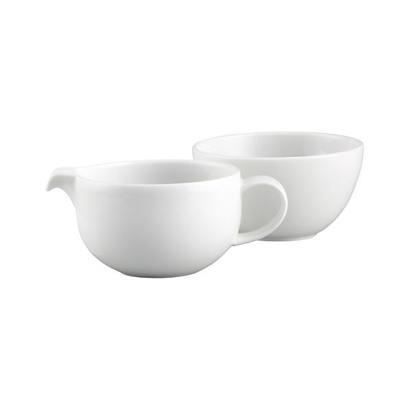 Bennett Sugar Bowl and Creamer