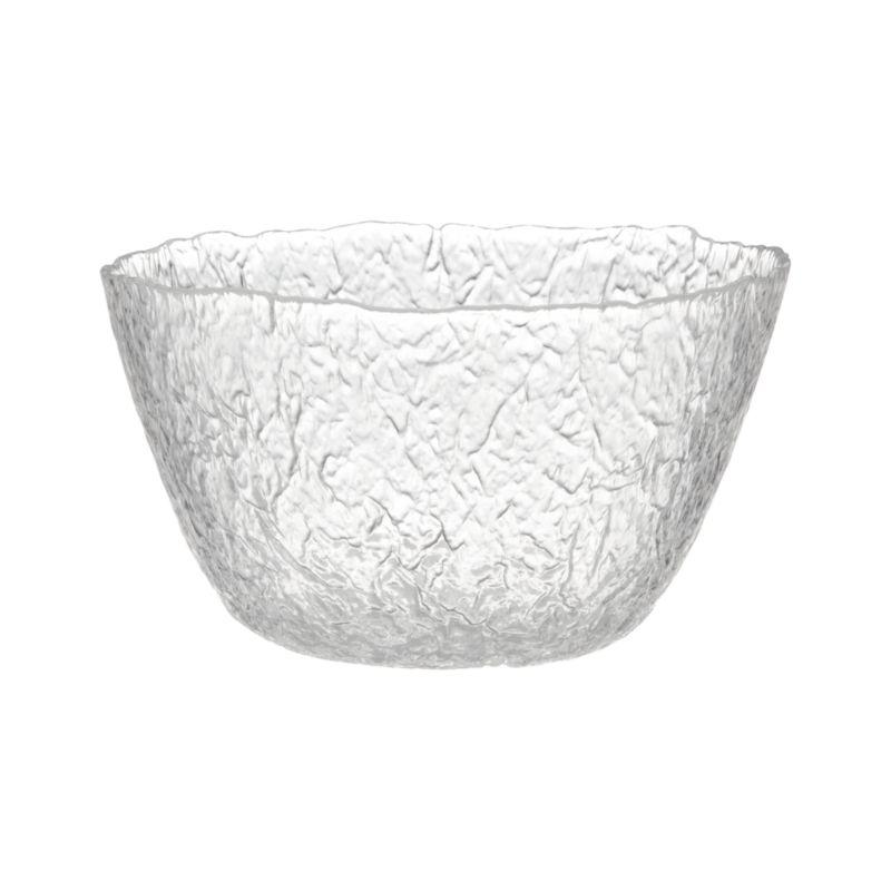 Organic shape and texture reminiscent of ice sculpture makes this Italian-crafted piece a cool serving alternative.<br /><br /><NEWTAG/><ul><li>Glass</li><li>Dishwasher-safe</li><li>Made in Italy</li></ul>