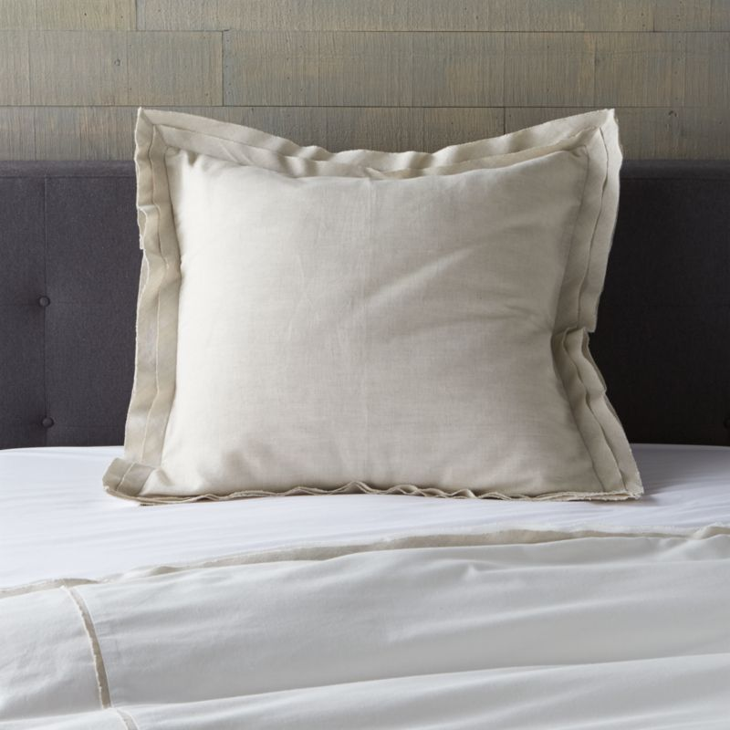 Neutral Euro sham adds a solid counterpoint to Bianca's mix of neutral naturals. Bed pillows also available.<br /><br /><NEWTAG/><ul><li>52% linen and 48% cotton</li><li>Envelope closure</li><li>Machine wash cold, tumble dry low</li><li>Made in India</li></ul>