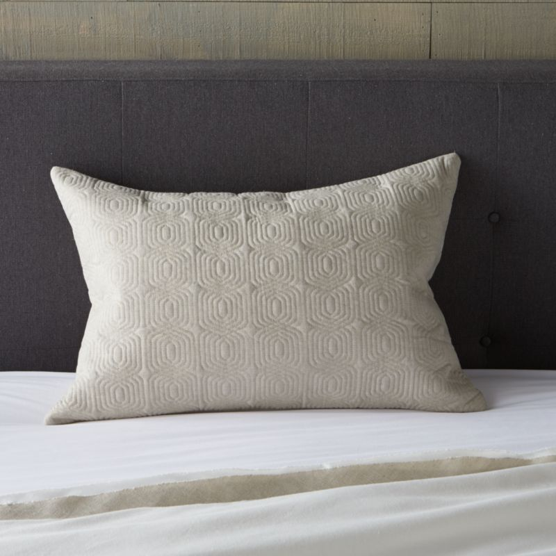 Quilted lumbar pillow cover adds a solid and textured counterpoint to Bianca's mix of neutral naturals. Pillow also available.<br /><br /><NEWTAG/><ul><li>52% linen and 48% cotton</li><li>Cotton filling</li><li>Side zipper closure</li><li>Machine wash cold, tumble dry low</li><li>Made in India</li></ul>