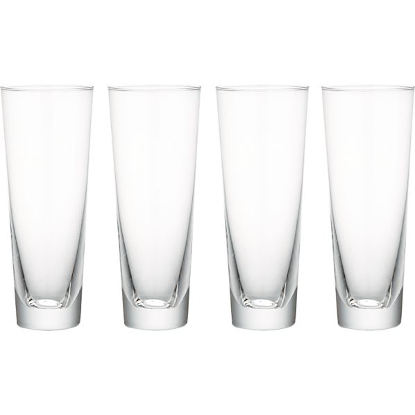Set of 4 Biggs Long Drink Glasses