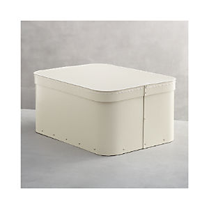 Bigso® Ivory Large Rectangular Storage Box