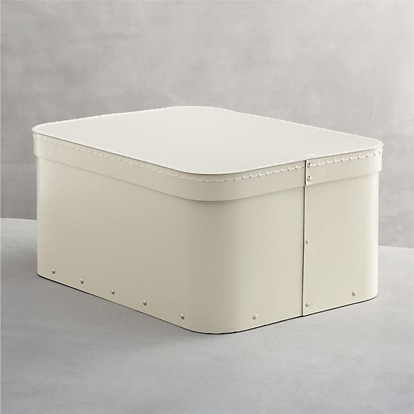 Bigso ® Ivory Large Rectangular Storage Box