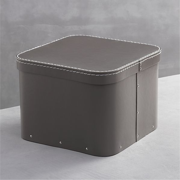 Bigso ® Grey Large Square Storage Box