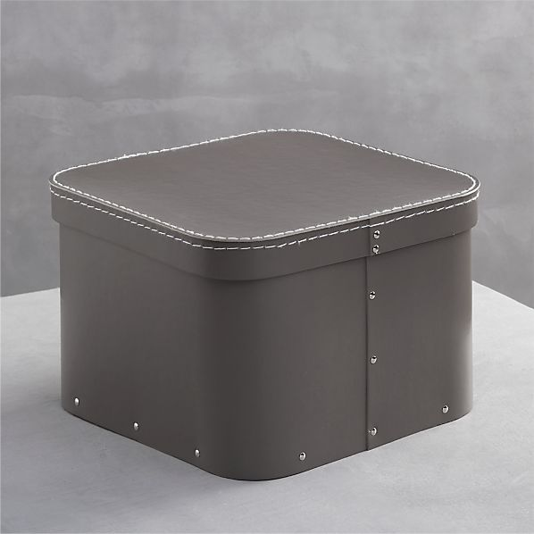 Bigso ® Grey Small Square Storage Box