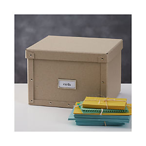 Bigso ® Natural Card Storage Box