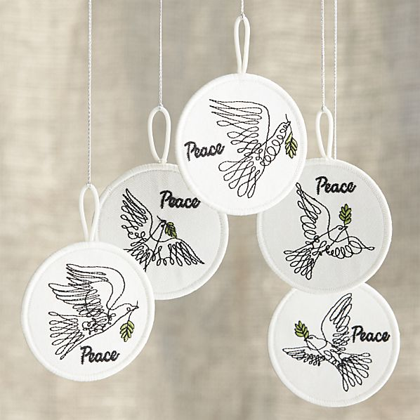 Elvis Swift Dove Ornaments