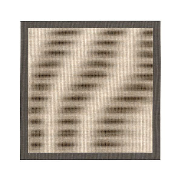 Biscayne Black 8'x8' Indoor-Outdoor Rug