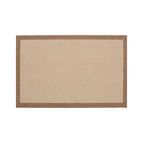 Biscayne Pecan 4x6 Indoor-Outdoor Rug