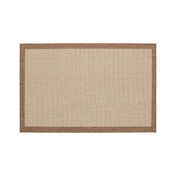 Biscayne Pecan 4'x6' Indoor-Outdoor Rug
