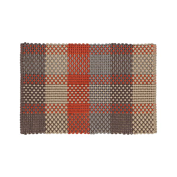 Bitsie Orange 2'x3' Rug