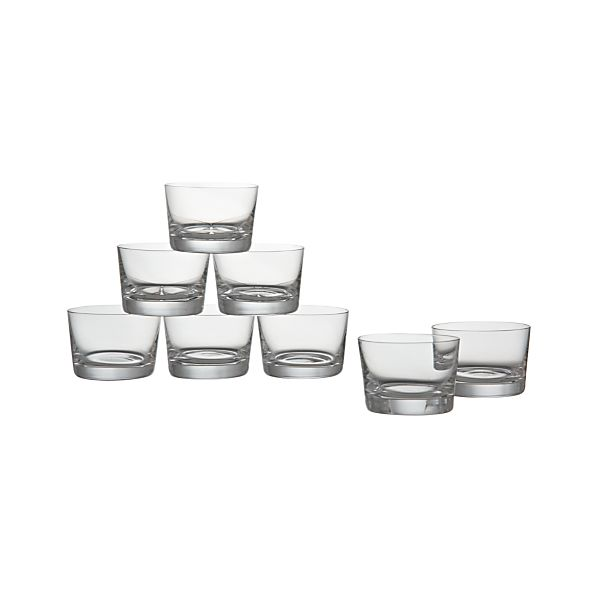 Set of 8 Bitty Bite Short Glasses