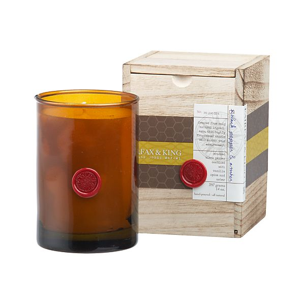 Fairfax & King Black Pepper and Amber Candle
